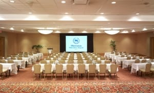 Meeting space at the Sheraton