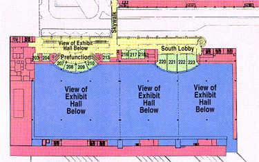 Broward County Convention Center Floor Plan - 3rd floor
