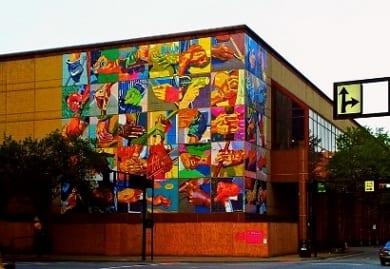 Cincinnati's aspiring artists unveil historic mural at Duke Energy Convention Center