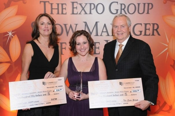 The Expo Group presents checks at the Show Manager of the Year awards.