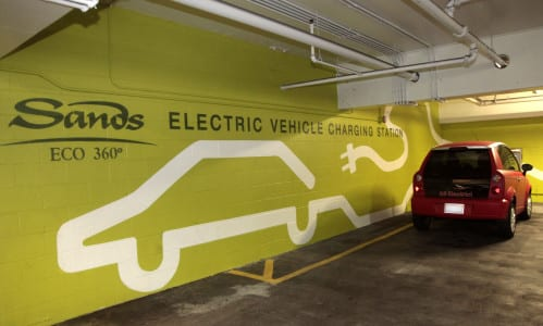 Global sustainability a priority for Las Vegas Sands Corp. - Electric vehicle charging station 003