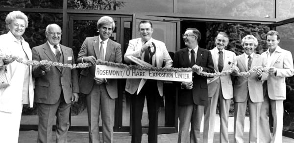 Ribbon-cutting with Mayor Donald E. Stephens (center)