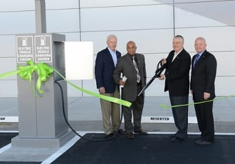 From left to right: The LVCVA's Hugh Sinnock, vice president of customer experience; Robert Jones, director of engineering; Terry Jicinsky, senior vice president of operations; and Walter Laub, senior manager of engineering.