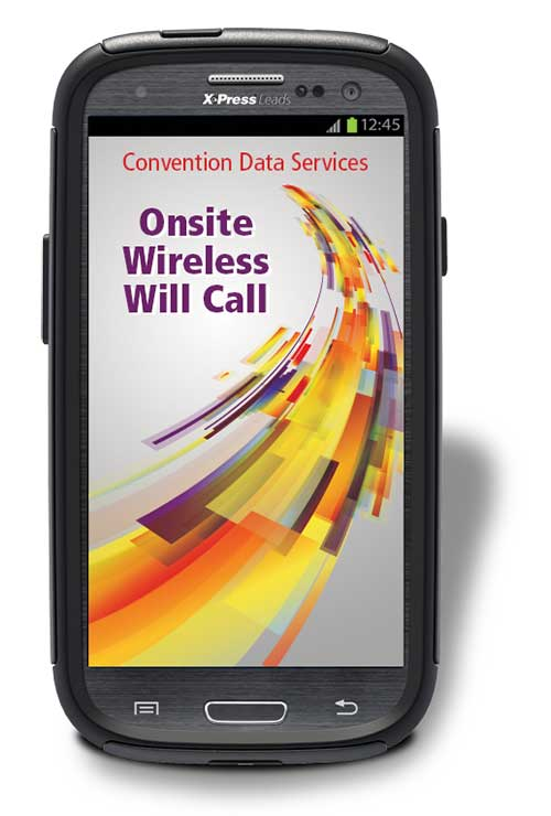 Onsite Wireless Will Call reduces long registration lines.