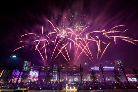 Fireworks over MB Financial Park