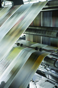 Creel Printing machinery churn out Web press at warp speeds.