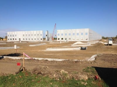 Facility walls raised in Oct. 2013.