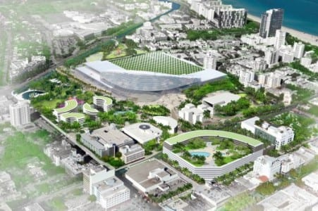 South Beach ACE's former master plan for the redevelopment of the Miami Beach Convention Center site.