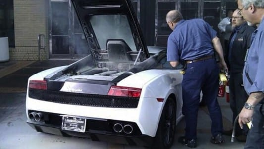 Lamborghini Gallardo on fire (2012)