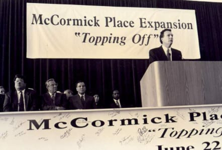 TBT_McCormick Place Expansion topping off ceremony Jun 22, 1995_071714