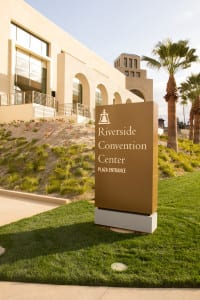 Riverside Convention Center is the only convention center in western Riverside County.