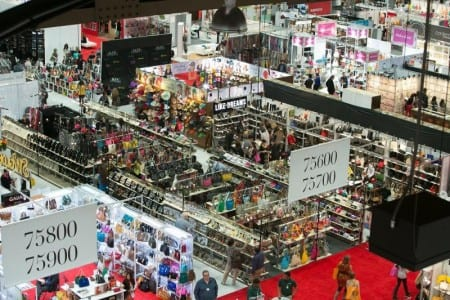 The pop-up store atmosphere of POOLTRADESHOW complements MAGIC Market Week, held February 2014.