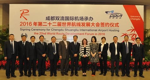 The bidding team in China secures World Routes 2016.