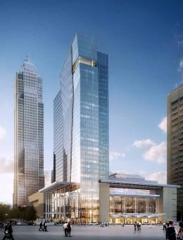 A rendering of Cleveland's upcoming hotel.