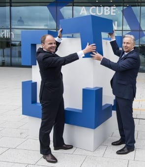 Mayor of Berlin Klaus Wowereit and Messe Berlin's CEO Dr. Christian Göke