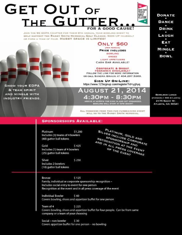 ECN 062014_SE_EDPA chapter hosts bowling fundraiser_RChristiansen