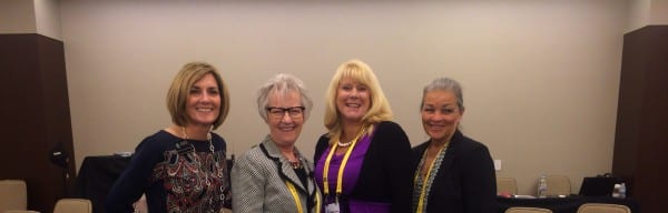 IAEE Vice President of Learning Experience Marsha Flanagan M.Ed; Taylored Alliances Founder Barbara Taylor Carpender, CMM, CHSC; showNets Vice President of Marketing Anne Marie Newman; showNets Senior Administrative Manager Debra Walker