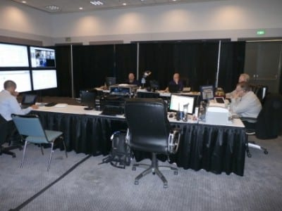 showNets leadership working in the NOC at E3.