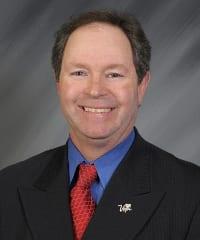 Chris Meyer, LVCVA Vice President of Sales.2-23-10. Darrin Bush photo. See # 2010-098-414. New Las Vegas pin Photoshopped in.