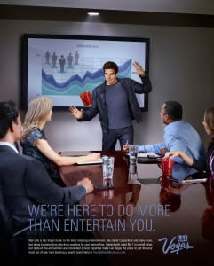 "Targeting business-to-consumer markets, ""Entertain You"" features Vegas performers."