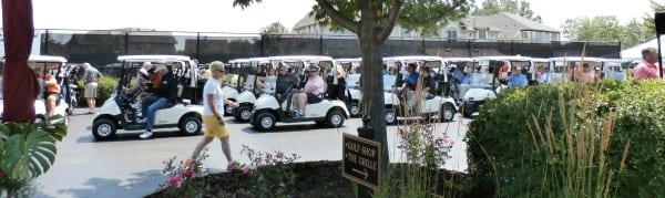 Joining the golf charity tournament were 88 industry participants.