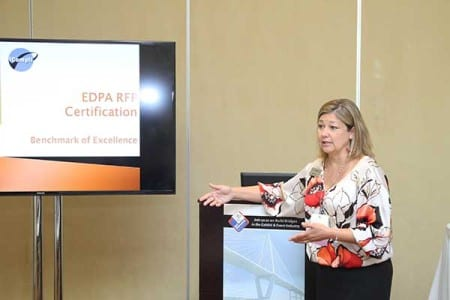 Gwen Hill, vice president of education, EDPA, conducts an RDC session on EDPA RFP Certification.