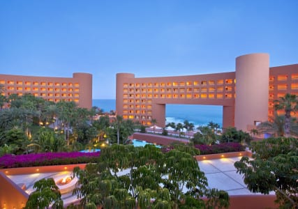 The Westin Resort & Spa Los Cabos features architecture to match the surrounding natural landscape, including the famous land arch at the tip of Baja California del Sur.