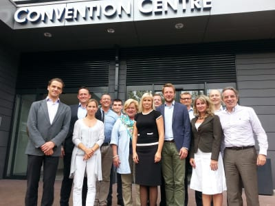 From left to right: Miha Kovacic (Slovenian Convention Bureau), Thorsteinn Orn Gudmundsson (Meet in Reykjavik), Barbra Steuri-Albrecht (Switzerland Convention Bureau), Eric Bakermans (NBTC Holland Marketing), Mladjan Miskeljin (Serbia Convention Bureau), Leena Sipilä (Finland Convention Bureau), Kadri Karu (Estonian Convention Bureau), Petr Kuklík (Czech Convention Bureau ), Matthias Schultze (GCB German Convention Bureau e.V.), Steen Møller (VisitDenmark), Anikó Ferenczy (Hungarian Convention Bureau), Frode Aasheim (Norway Convention Bureau), Christian Mutschlechner (Austrian Convention Bureau)