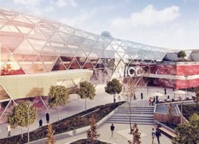 Rendering of the International Convention Centre, which opens in 2018.