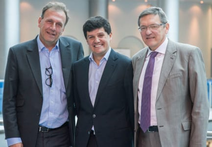Left to right: Renaud Hamaide (UFI president 2013-2014), Andrés Lopez Valderrama, UFI president 2014-2015) and Sergey Alexeev (UFI president 2015-2016).