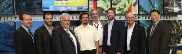 City and state officials along with Borrego Solar Systems' representatives.