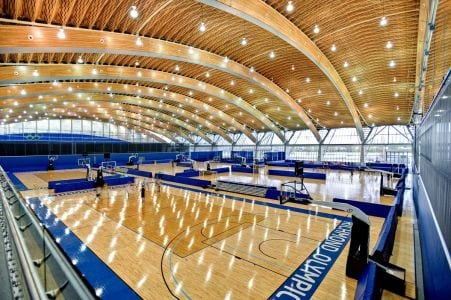 This is how the interior of the Richmond Olympic Oval looks today.