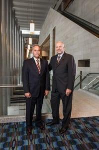 SMG Senior Vice President and COO Bob McClintock and Executive Vice President Gregg Caren at Pennsylvania Convention Center.