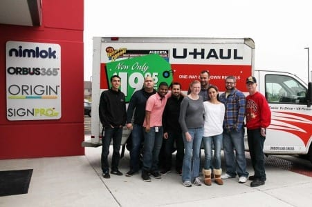 Orbus employees who assisted in the loading of toys onto the truck.