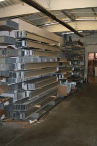 Lighter than traditional materials for building exhibits, aluminum has mostly replaced wood and steel. Photo credit: Highmark TechSystems Photo Credit: Highmark TechSystems