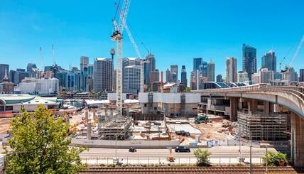 ICC Sydney construction site. Copyright DHL