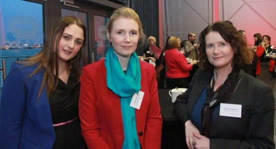 L-R Heather Bonner, ACC Liverpool; Helen McHugh and Christine Bateman, University of Liverpool