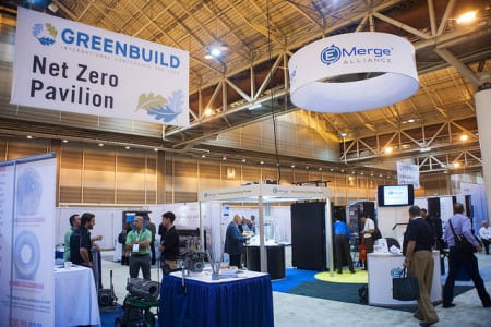 The Net Zero Pavilion at the Greenbuild Conference and Expo.