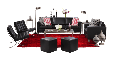 A CORT exclusive, the clean design of the Naples collection is highlighted by sleek black vinyl.