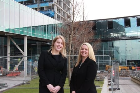L-R Amy King and Jennifer Jensen on site at Exhibition Centre Liverpool and Pullman Hotel