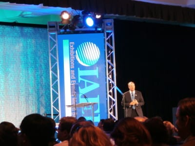 IAEE President & CEO David DuBois presenting opening keynote at Expo! Expo! 2014.