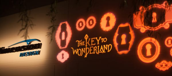 """Themed after """"Alice in Wonderland,"""" Dimension Design's open house took the tale to a new dimension."""