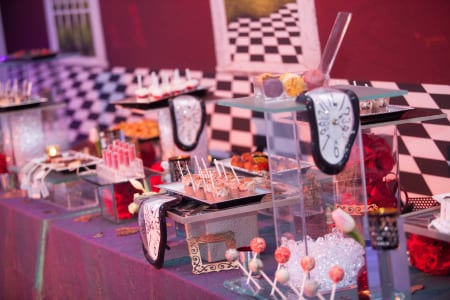 A dessert spread completed the tea party theme.