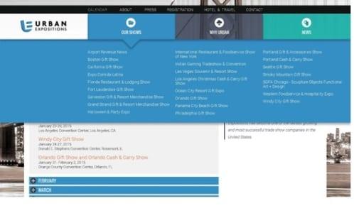 ECN 032015_NTL_Urban Expositions celebrates 20 years_Website screenshot 2