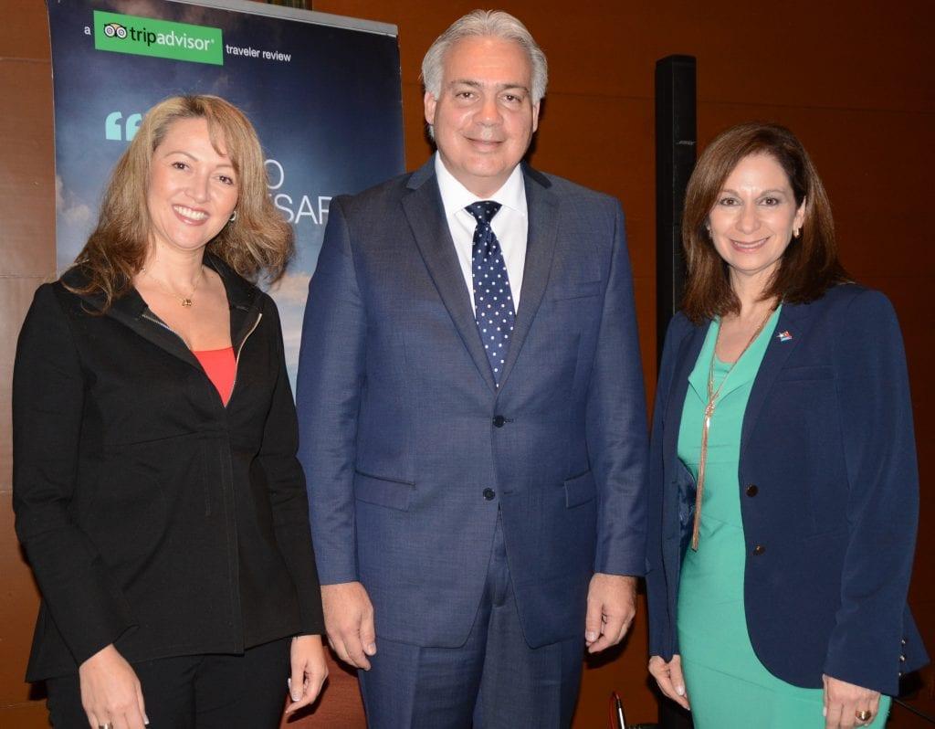 (Left to right)  Paula Cortes, president, Tourism and Travel Association ANATO; Milton Segarra, president & CEO, Meet Puerto Rico;  and Ingrid Rivera, executive director, Puerto Rico Tourism Company.