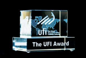 ECN 042015_ASSOC_UFI selects winners of 2015 sustainability competition_trophy-UFI-Award