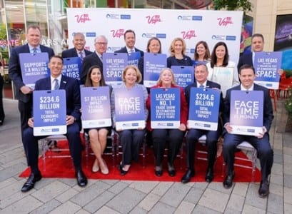 North American Meetings Industry Day (NAMID) press conference at the LINQ Promenade in Las Vegas on Thursday April 16, 2015. (Mark Damon/Las Vegas News Bureau)