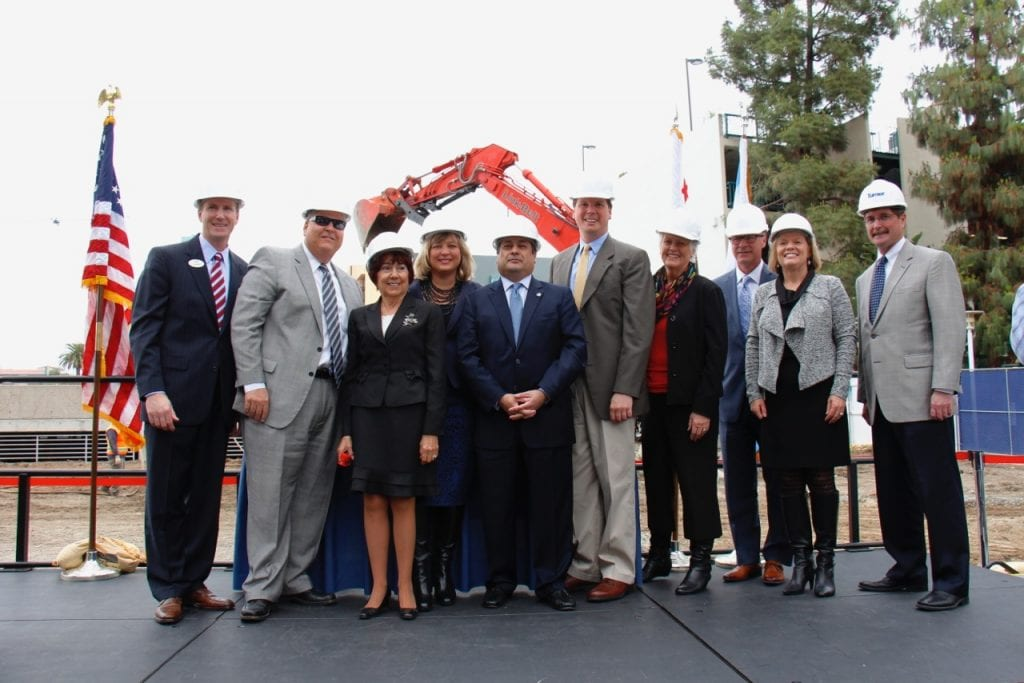 Officials from the City of Anaheim, ACC and Anaheim/Orange County Visitor & Convention Bureau attended the groundbreaking event.