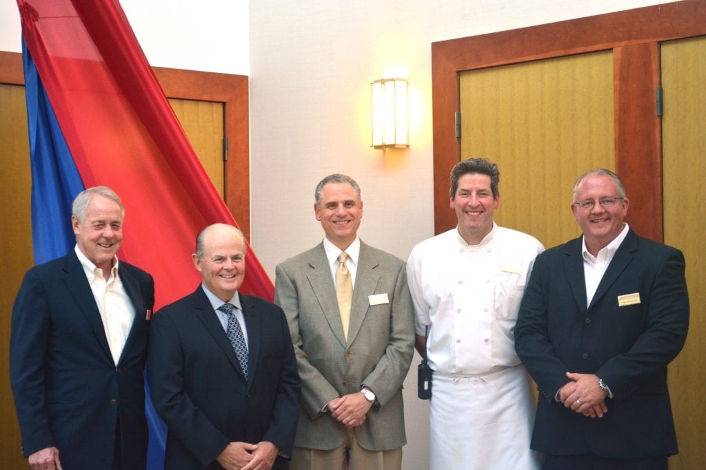 From left to right, the executive team of The National: Sam Haigh, Geoff Lawson, Danny Dolce, Executive Chef Chris Ferrier and Alan Reynolds.