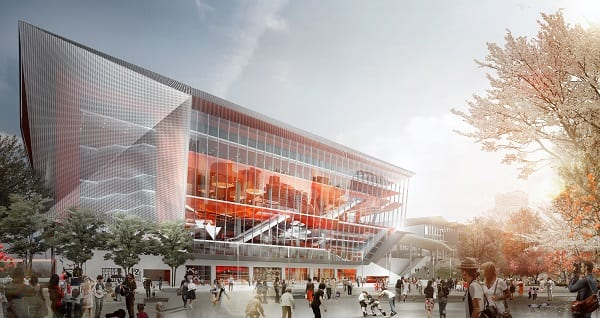Planned 8,000-seat red carpet theatre, which will connect to ICC Sydney